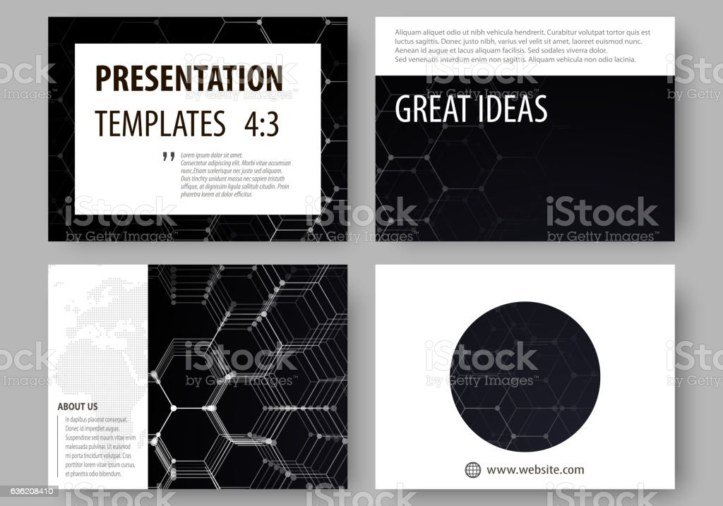 Business templates for presentation slides. Easy editable vector layouts. Chemistry vector art illustration