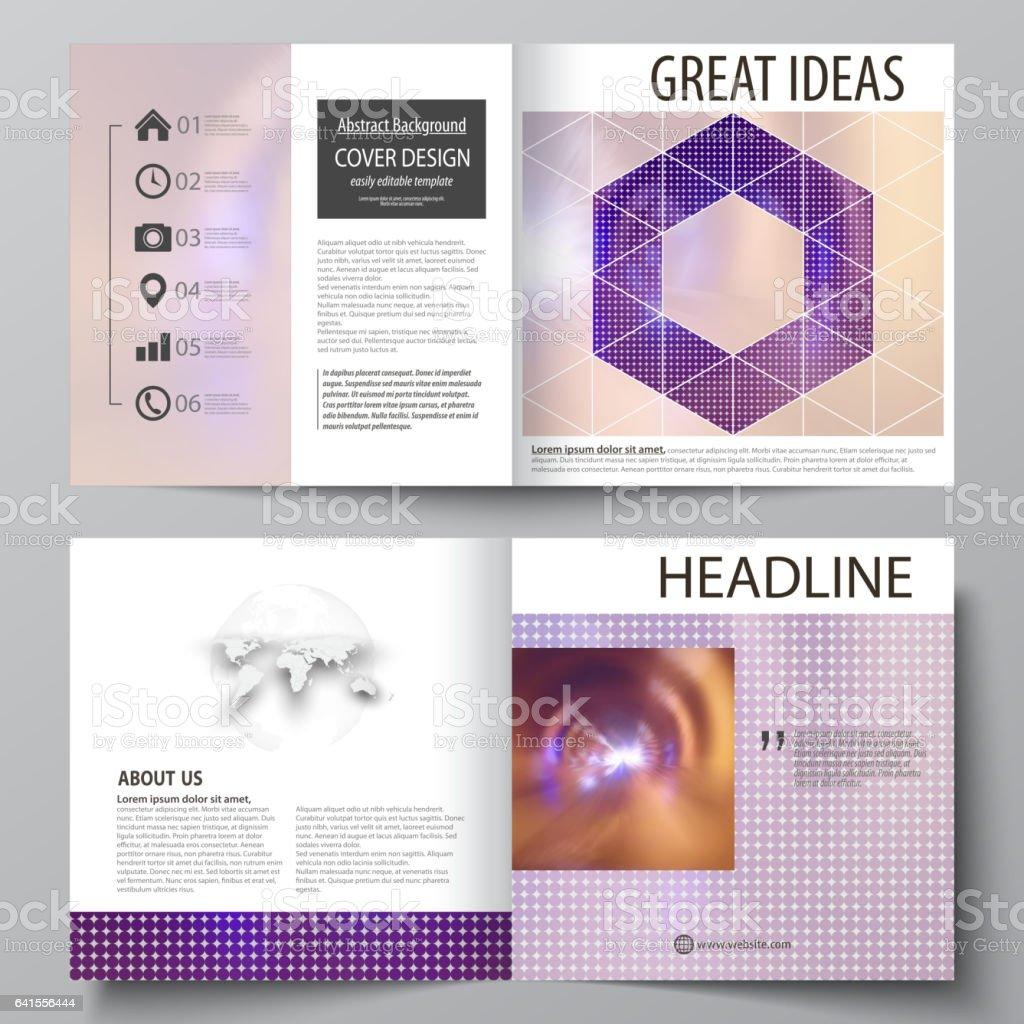business templates for square bi fold brochure magazine flyer 1 credit