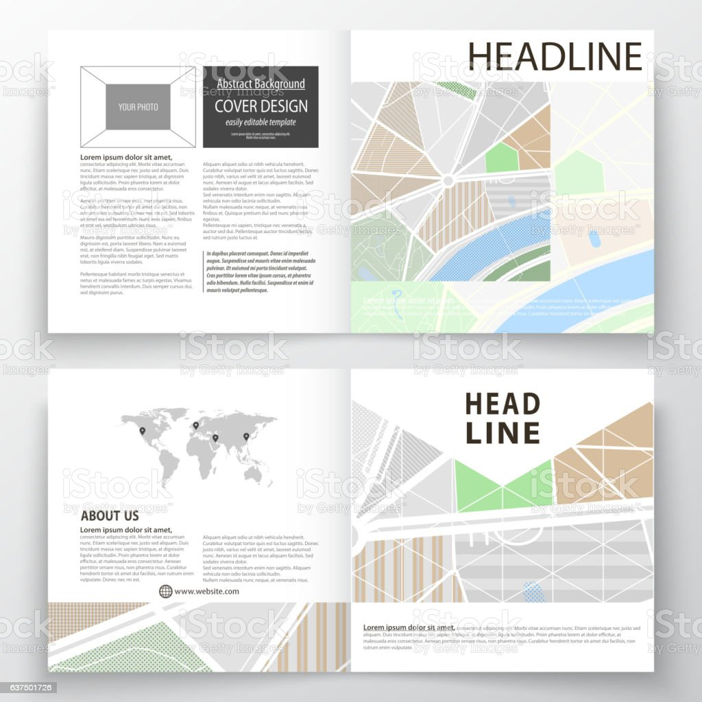 business templates for square bi fold brochure magazine flyer 1 credit