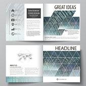 Business templates for square design bi fold brochure, flyer, booklet