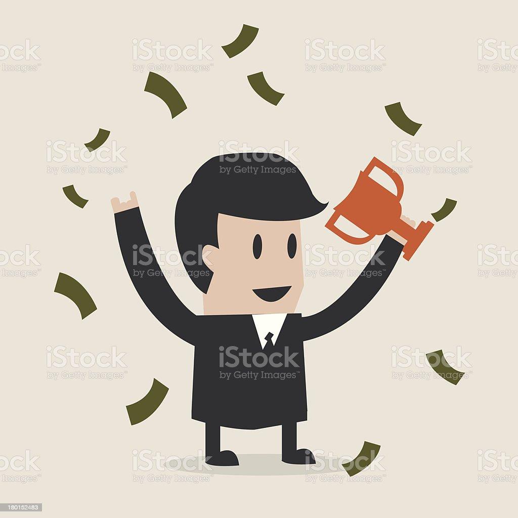 Business the winner royalty-free stock vector art