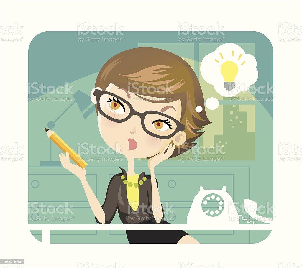 Business Theme (Light Bulb Moment) vector art illustration