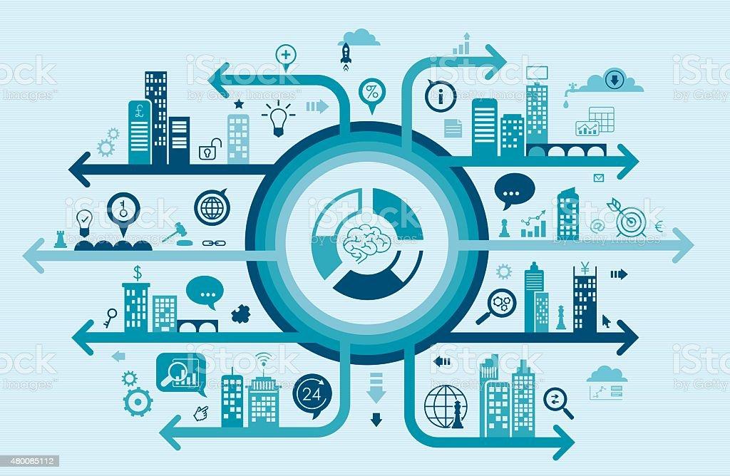Business Thinking Concept vector art illustration