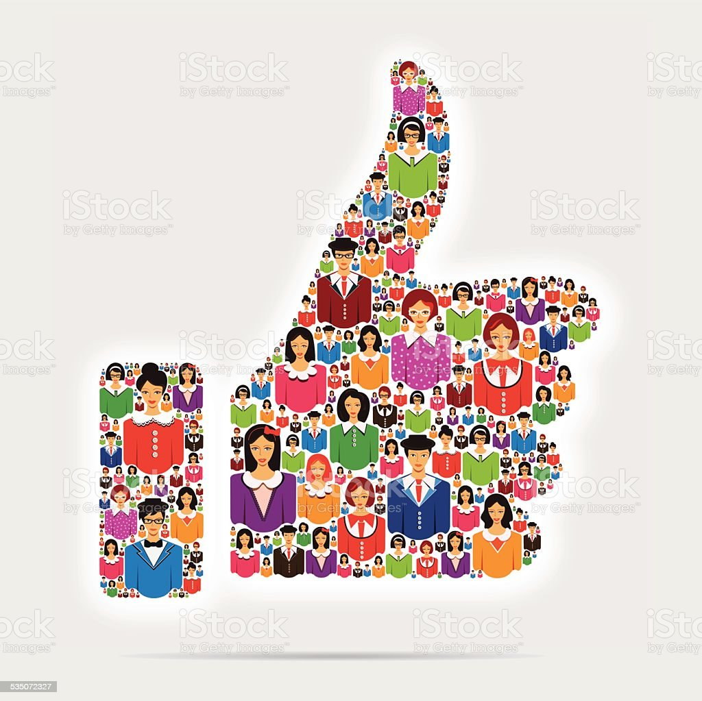 Business Thumb Up vector art illustration