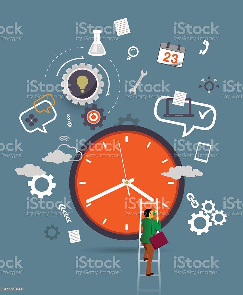 Business time vector art illustration