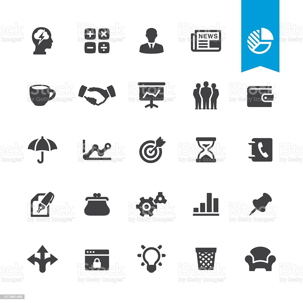 Business tools vector sign and icon vector art illustration