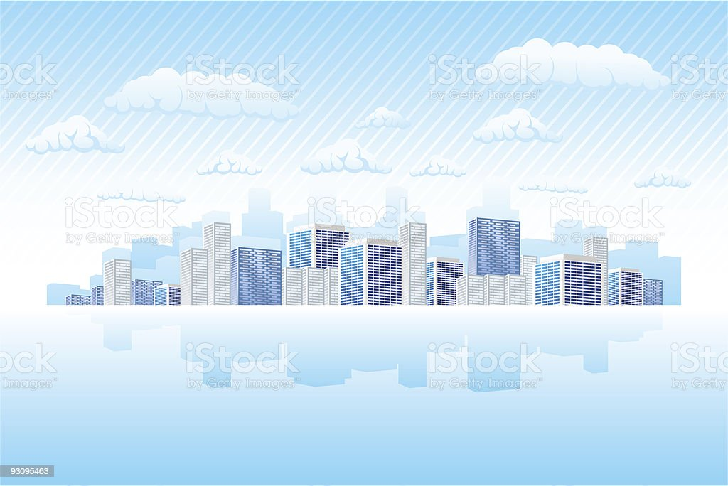 Business town royalty-free stock vector art