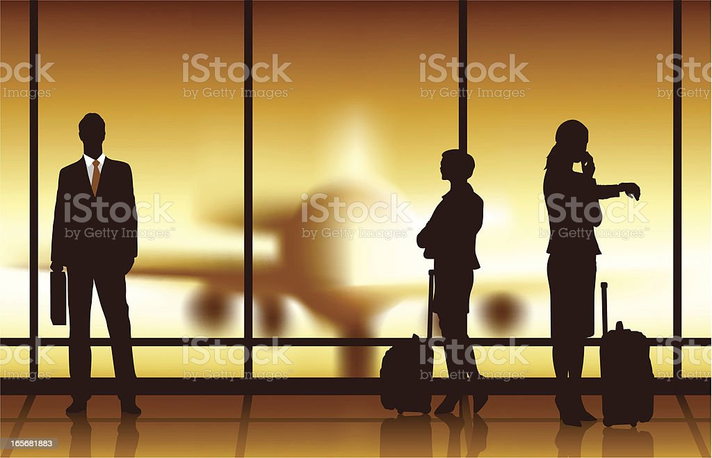 Business Travel Waiting royalty-free stock vector art