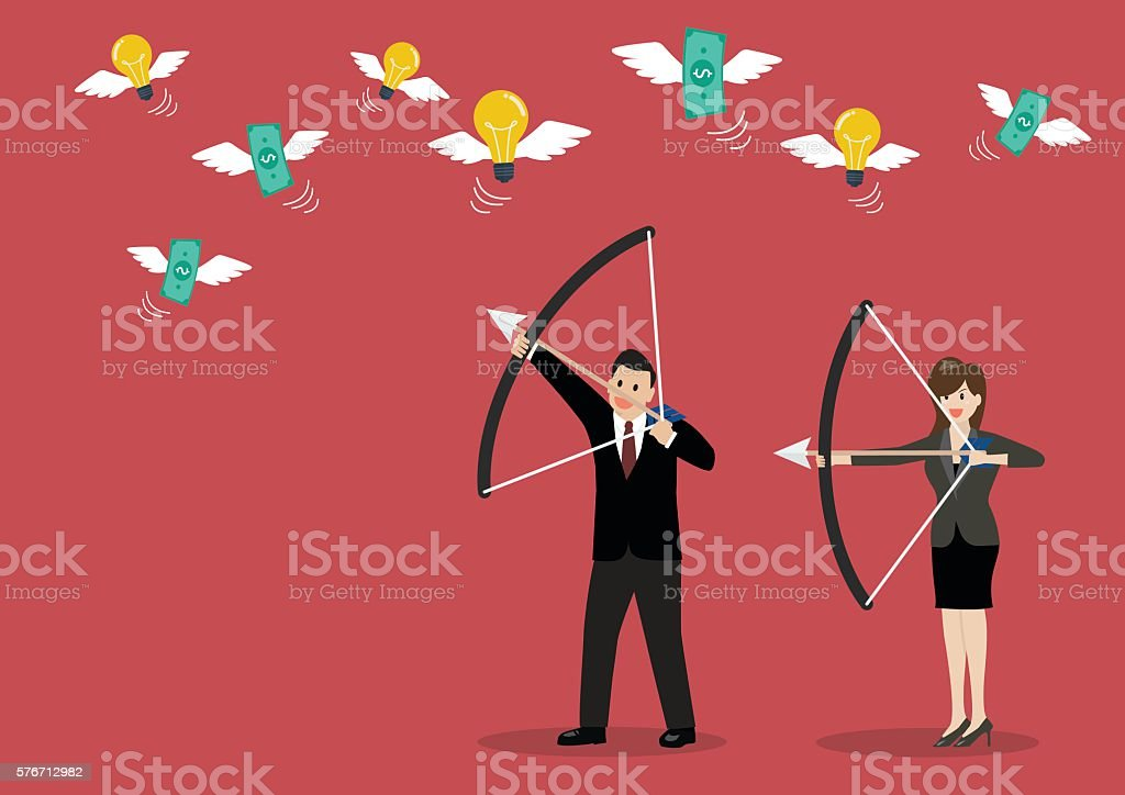 Business trick betray meanness situation concept vector art illustration