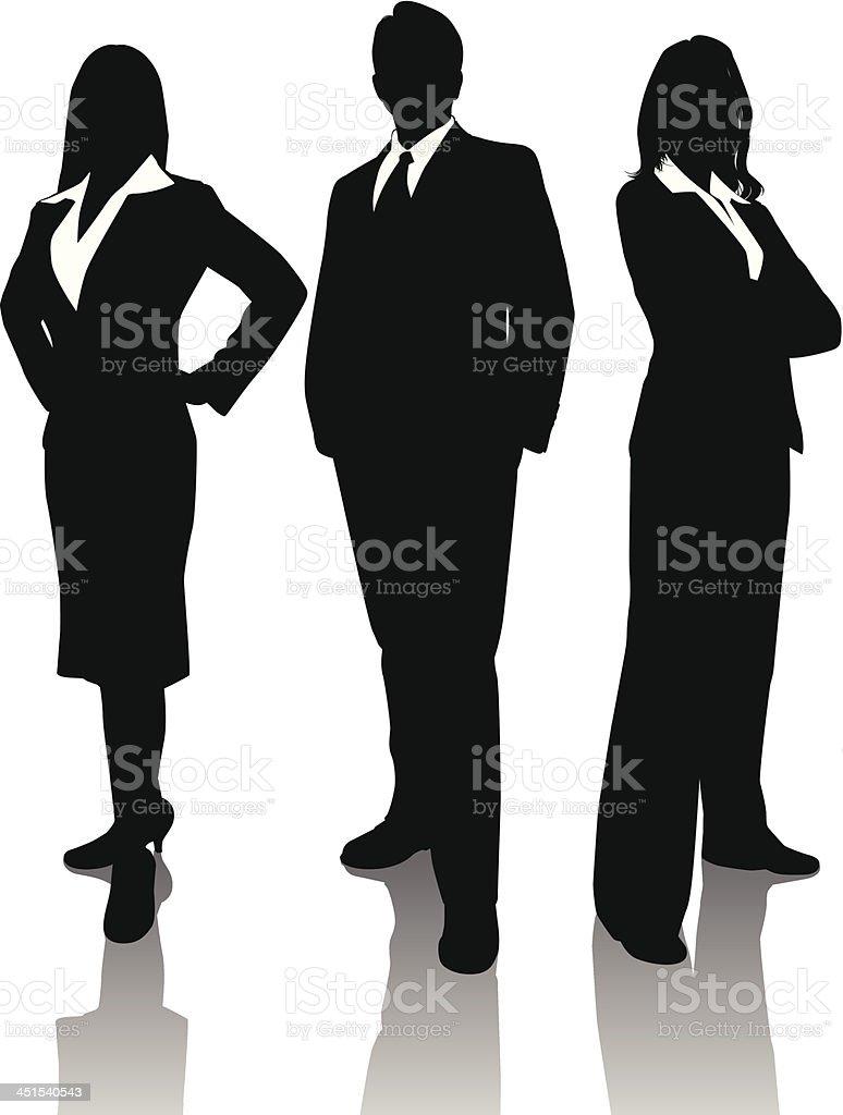 Business Trio vector art illustration