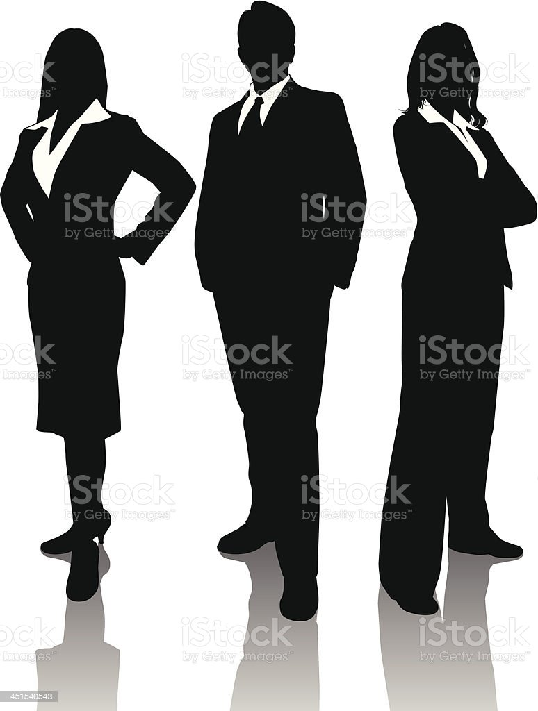 Business Trio vector art illustration