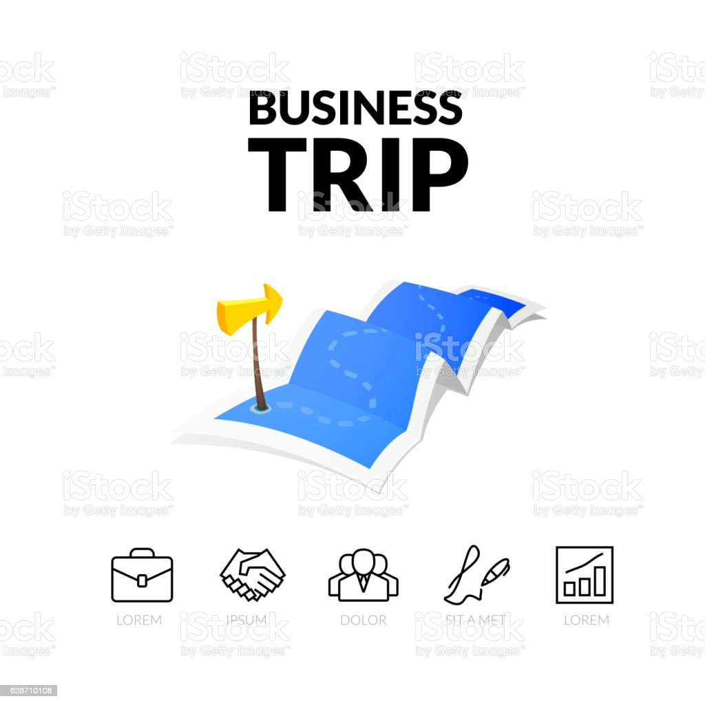 Business Trip Tour Concept Logo Travel Map With Guide Marker stock – Travel Marker Map