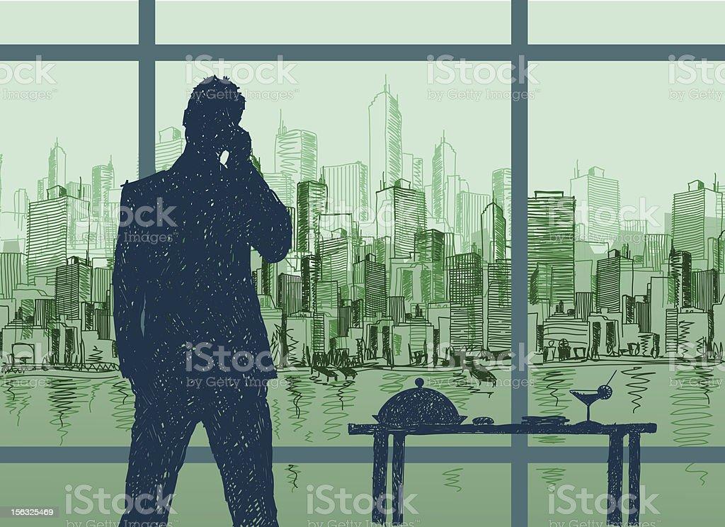 Business Trip vector art illustration