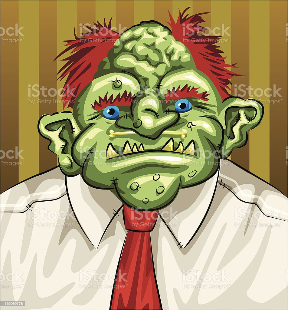 Business Troll Vector royalty-free stock vector art