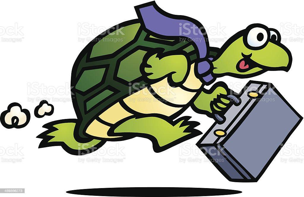 Business Turtle vector art illustration