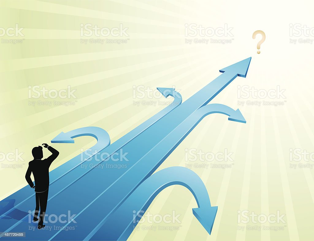 Business Uncertainty royalty-free stock vector art