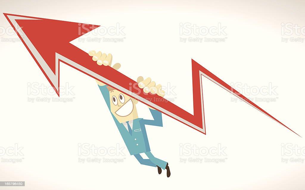 Business up vector art illustration