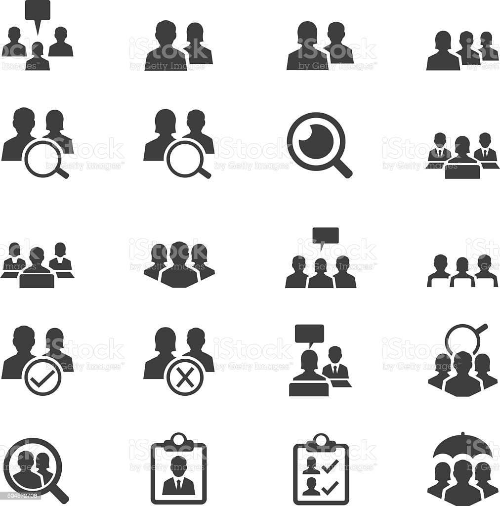 Business user icon set vector art illustration