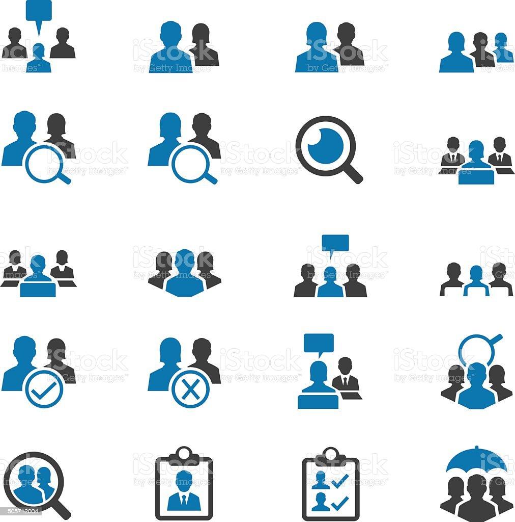 Business user icon set vector art illustration
