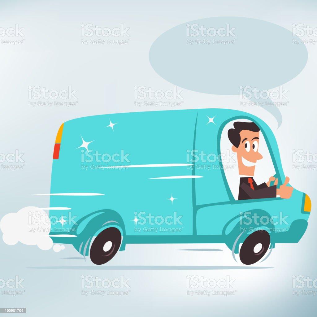 Business Van vector art illustration