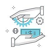 business; vector; icon; concept; illustration; target; market; c