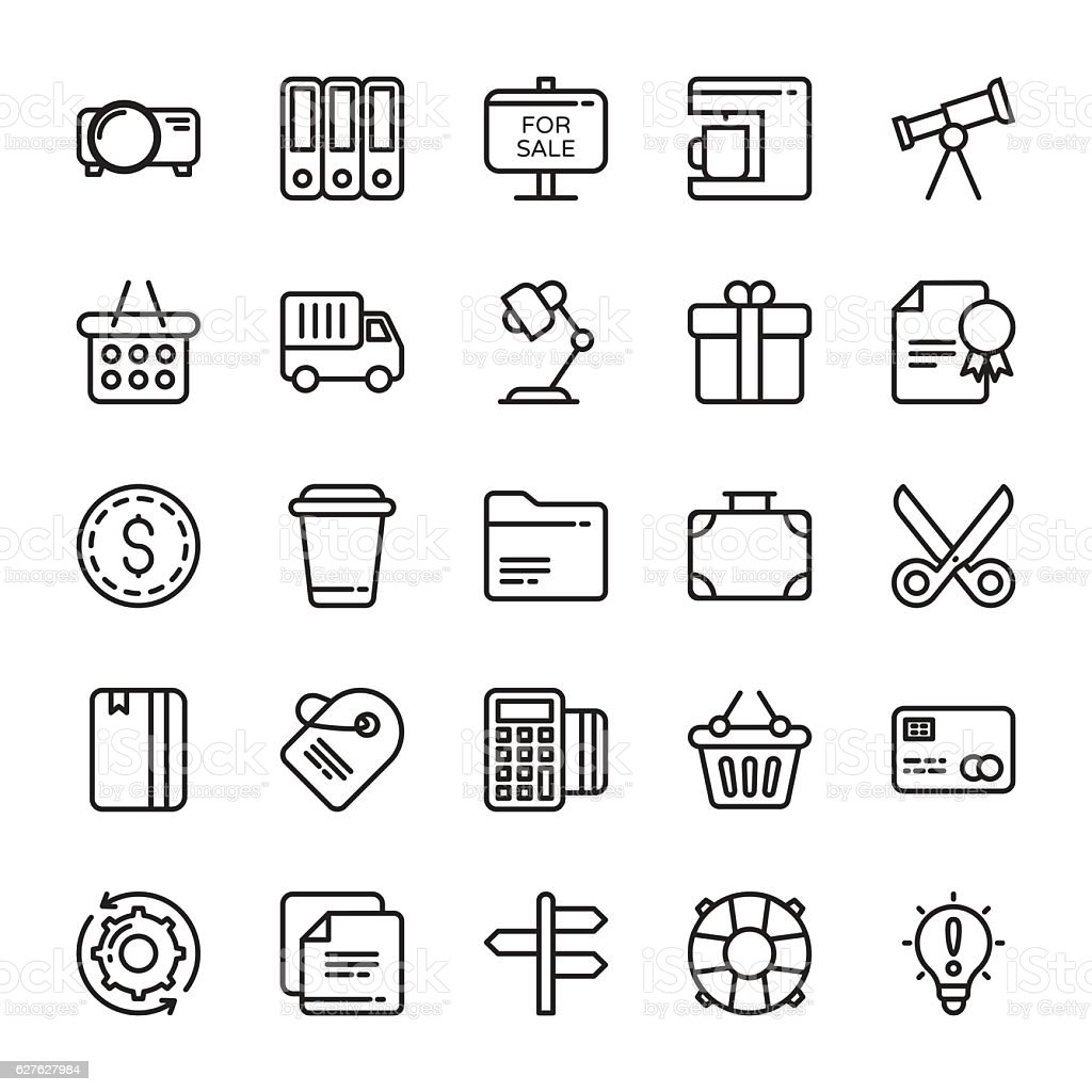 Business Vector Icons 8 vector art illustration