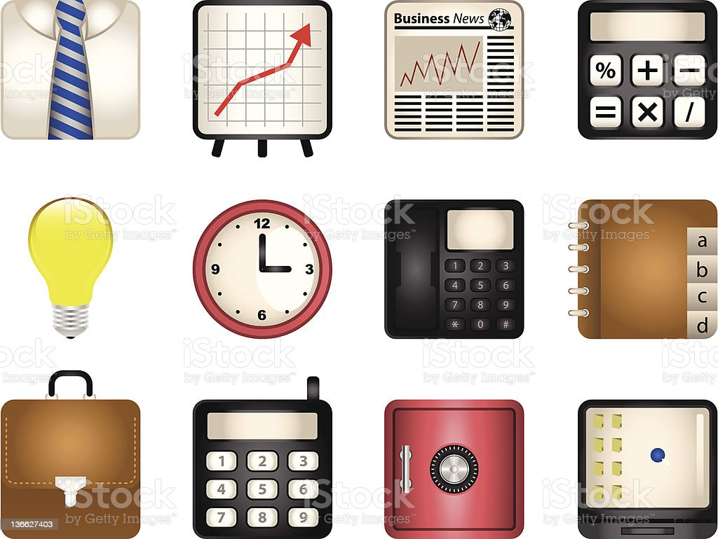Business Vector Icons royalty-free stock vector art