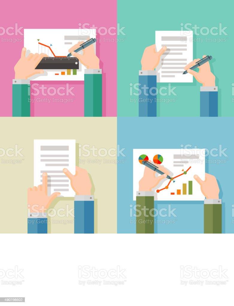 business vector logo design template. agreement or marketing icon vector art illustration