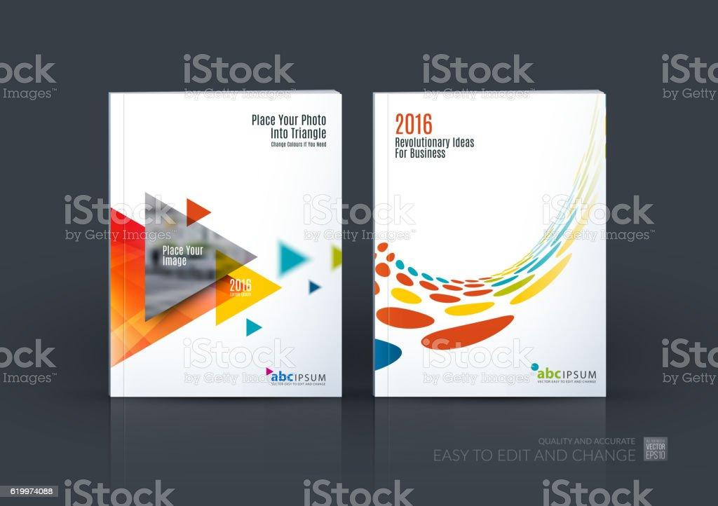 Business vector set. Brochure template layout, cover design annu vector art illustration