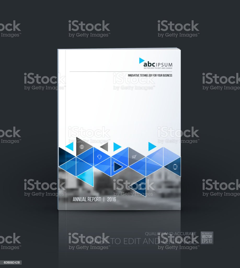 Business vector set. Brochure template layout, cover design annual...