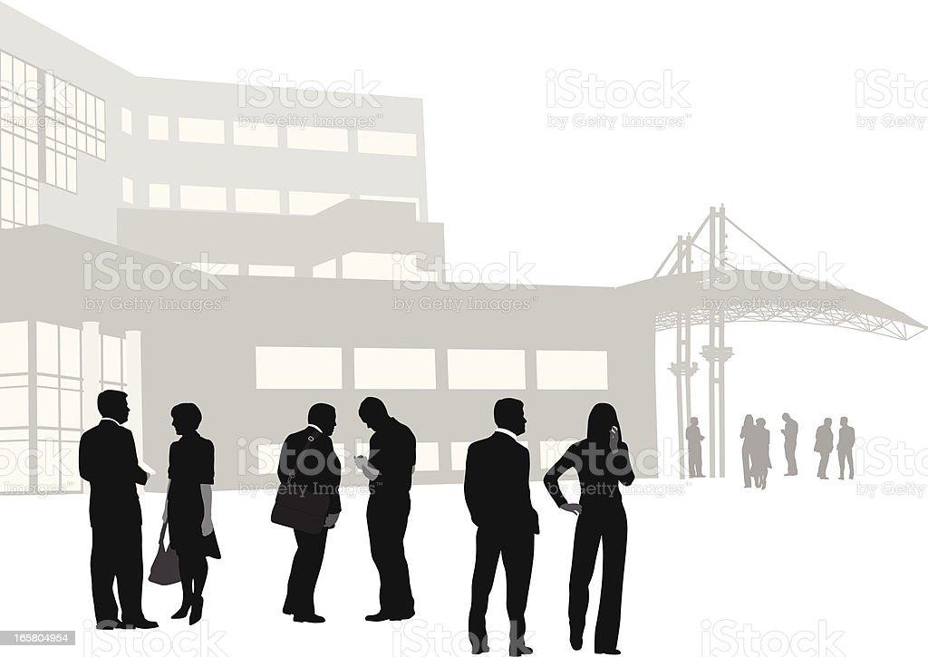 Business Vector Silhouette vector art illustration