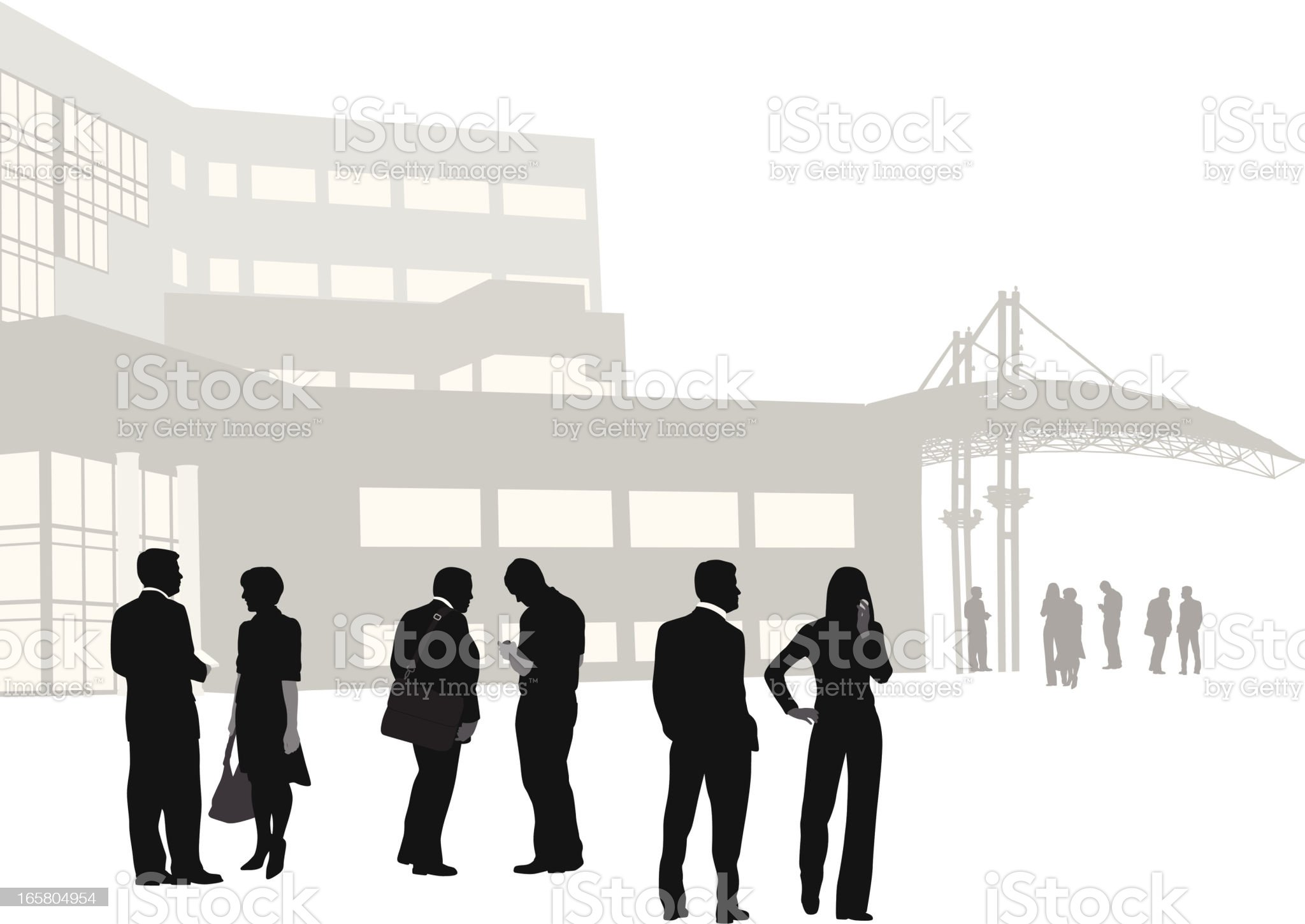 Business Vector Silhouette royalty-free stock vector art