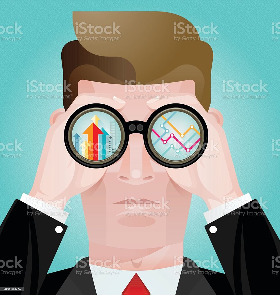 Business vision concept vector vector art illustration