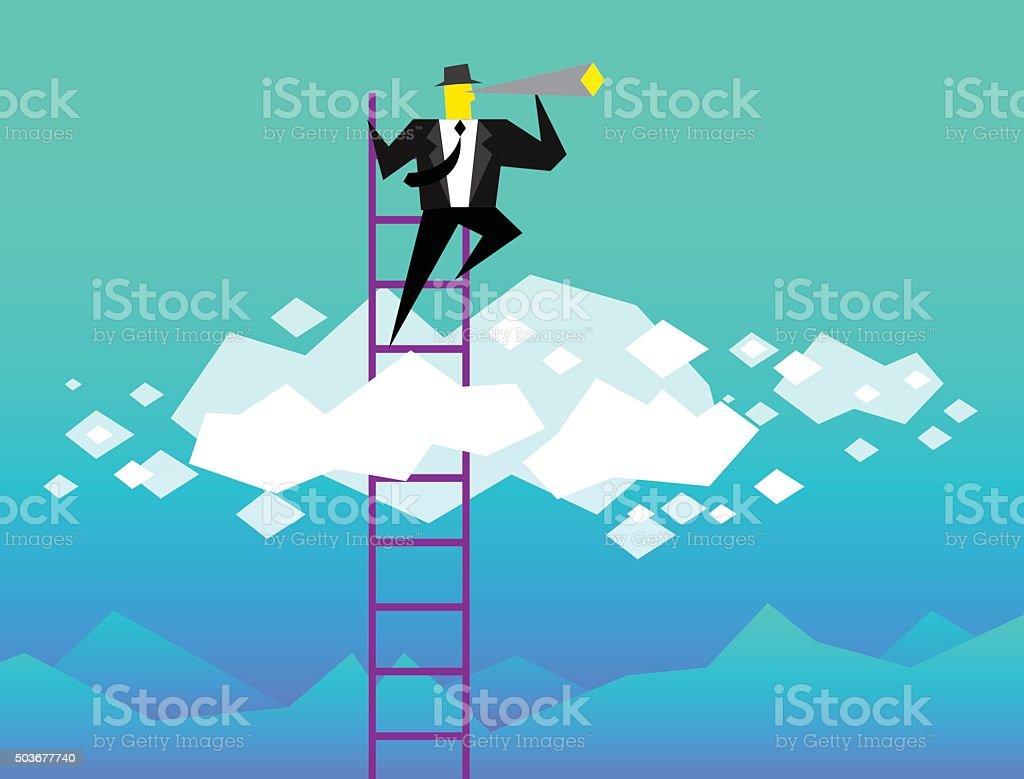 Business Vision vector art illustration