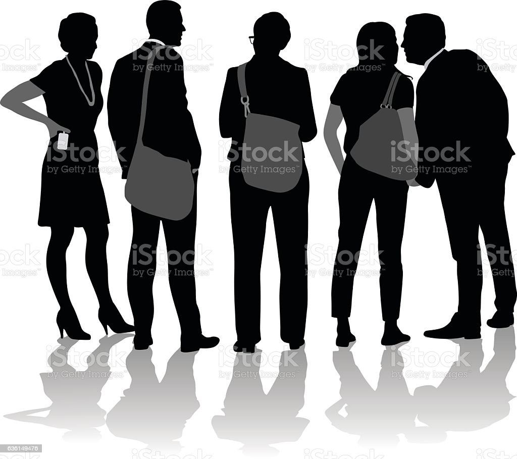 Business Walks vector art illustration