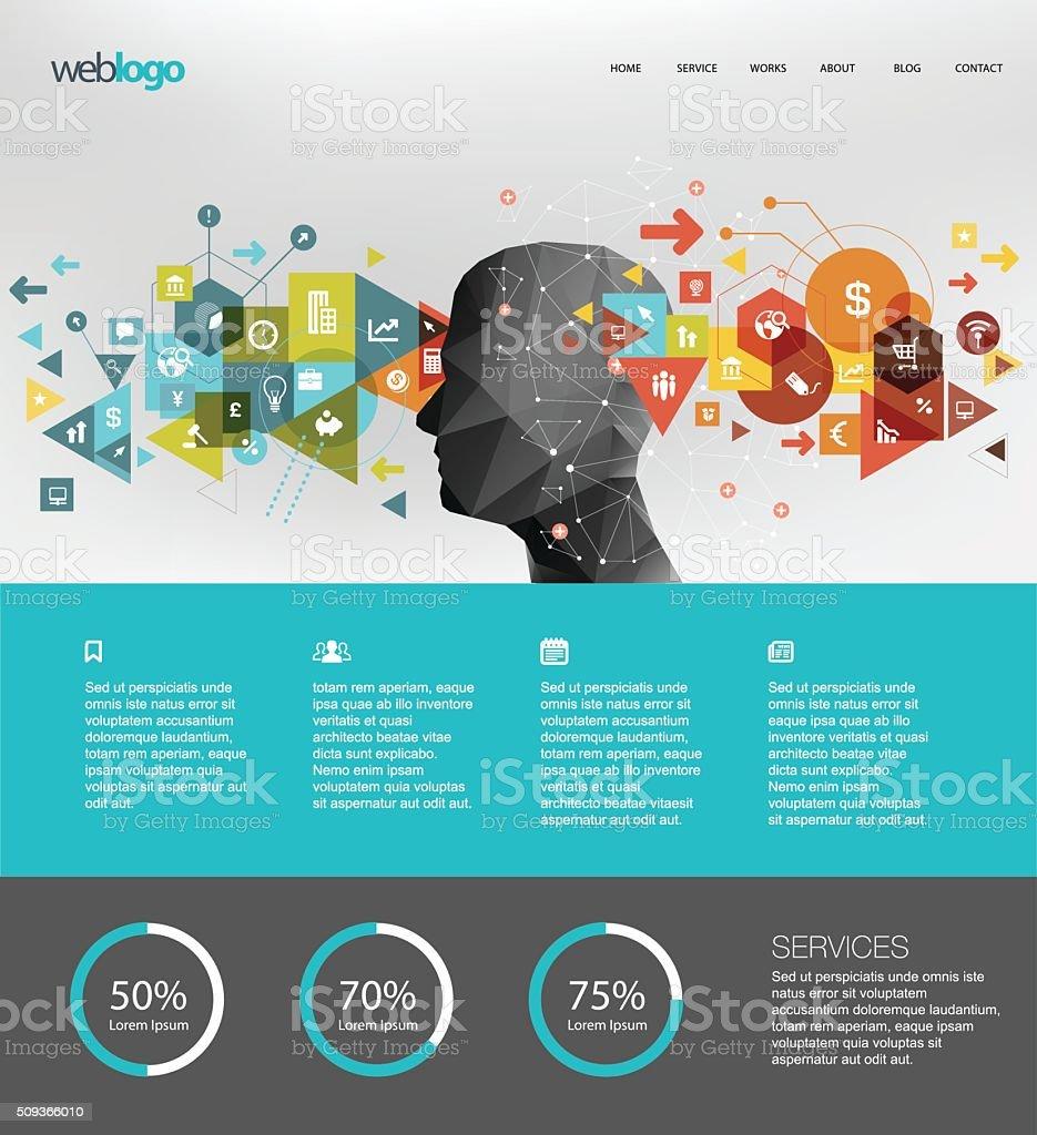 Business website design vector art illustration