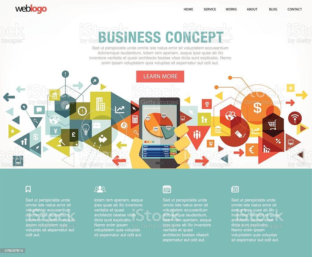 Business website layout vector art illustration