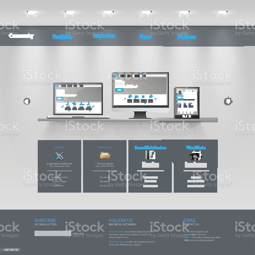 Business website template gallery theme stock vector art 495785782 business website template gallery theme royalty free stock vector art flashek Choice Image