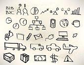 Business Whiteboard Drawings - Logistics, Transportation