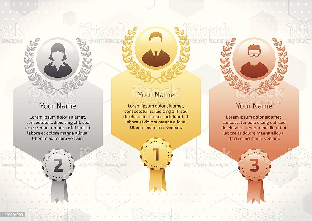 Business winners vector art illustration