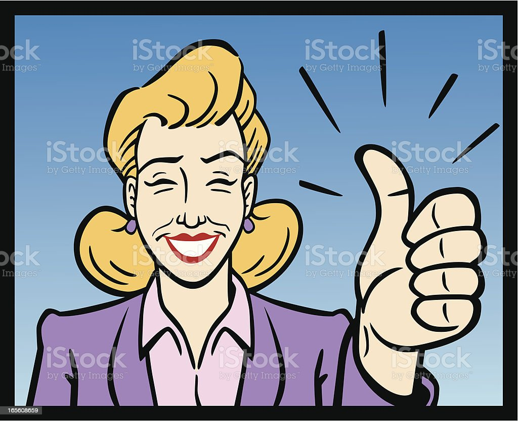 Business Woman Giving The Thumbs Up royalty-free stock vector art