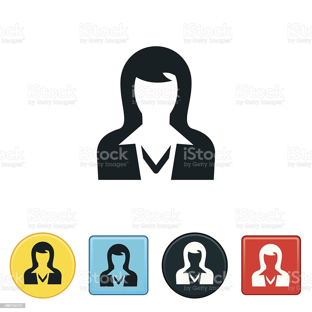 Business Woman Icon vector art illustration