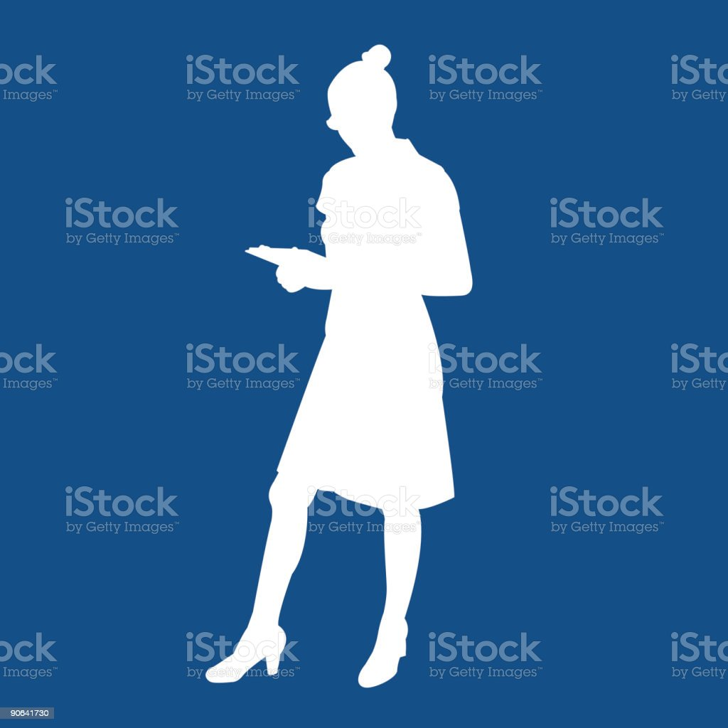 Business Woman royalty-free stock vector art