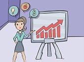 Business women doing a presentation in an office