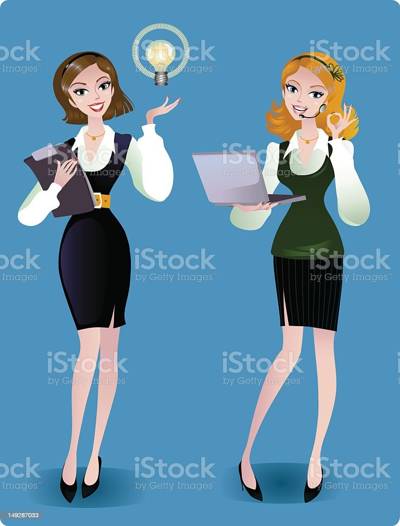 Business women royalty-free stock vector art