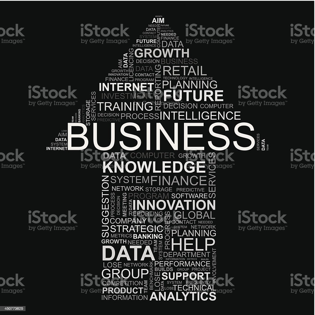 business word collage royalty-free stock vector art