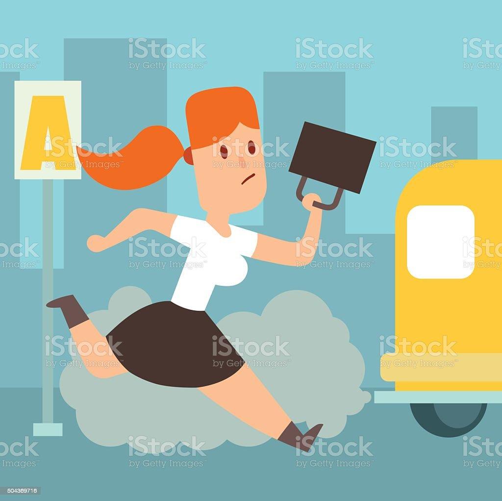 Business work time lag delay vector illusutration vector art illustration