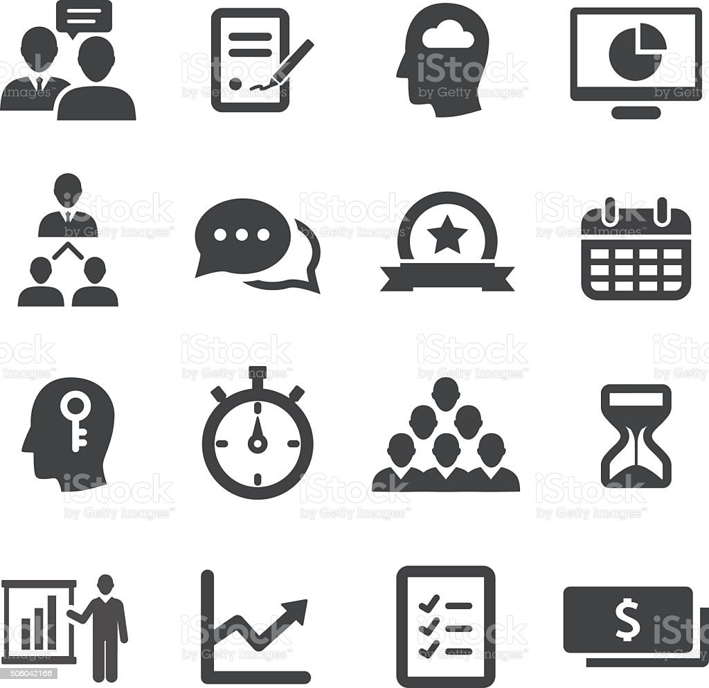 Business Workflow Icon - Acme Series royalty-free stock vector art