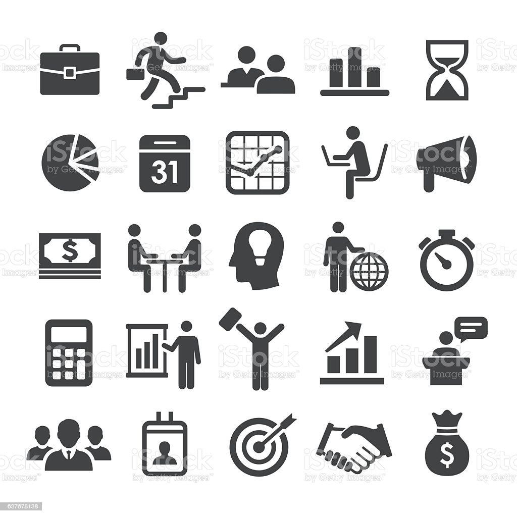 Business Workflow Icon Set - Smart Series vector art illustration