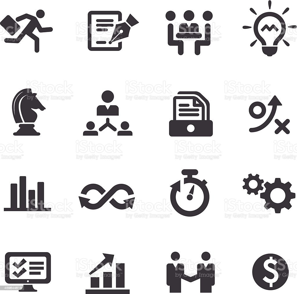 Business Workflow Icons - Acme Series royalty-free stock vector art